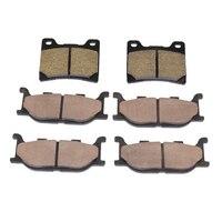 6 PCS Motorcycle Semi Metal Sintered Disc Front Rear Brake Pads For YAMAHA XVS 1100 DRAG