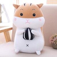 1 adet 40/50 cm 2 Desenler Hamster bebek karikatür peluş oyuncak sincap yastık kristal süper yumuşak kumaş dolu tam sevgililer Günü hediye