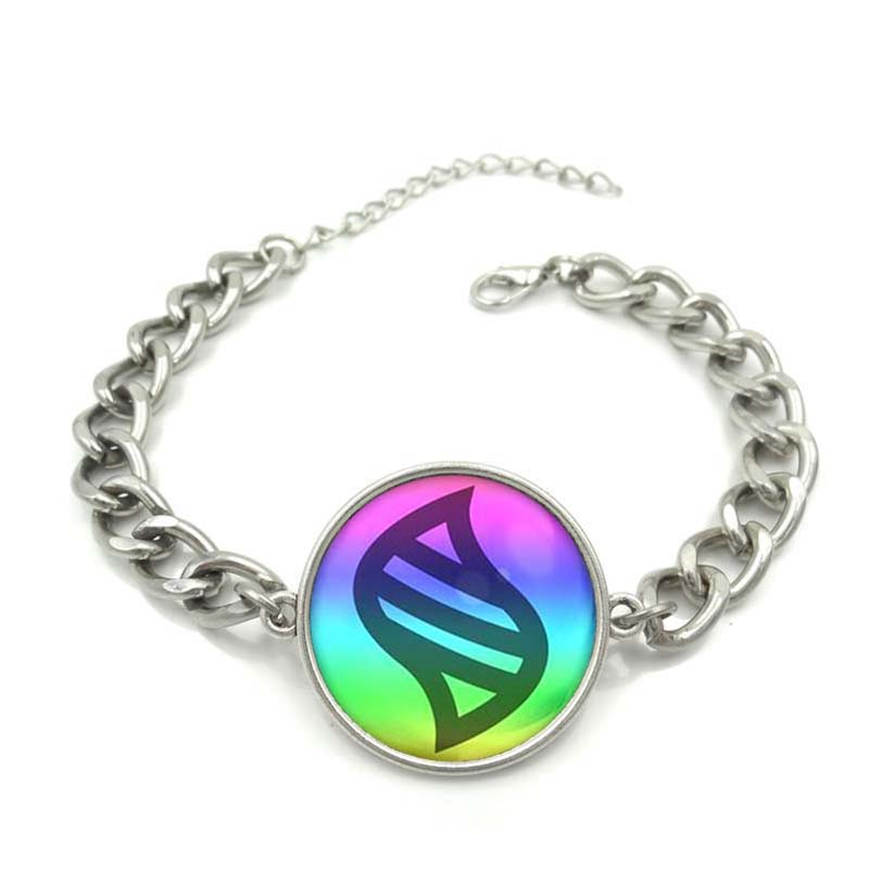 Pokemon Mega Stone Charm Bracelet Beautiful Glass Cabochon Art Image Silver Chain Link Bracelet for Women Gift Wholesale