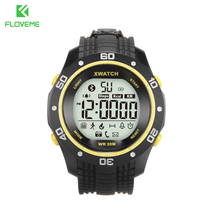 Floveme a12 inteligente relojes de deporte de la manera impermeable tpu muñequera podómetro salud pulsera bluetooth 4.0 reloj para android ios