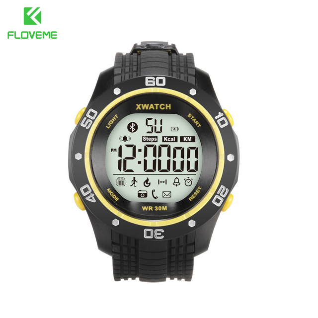 FLOVEME A12 Smart Watches Fashion Sport Waterproof TPU Wristband Pedometer Health Bluetooth 4.0 Watch For Android iOS Bracelet