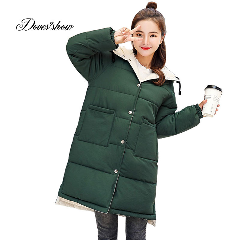 Hooded Reversible Winter   Down     Coat   Jacket Long Warm Women Cotton-padded Casaco Feminino Abrigos Mujer Invierno Wadded Parkas 12
