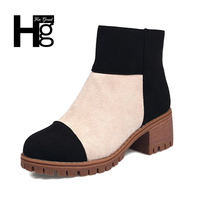 HEE GRAND High Quality Women Riding Boots Autumn Slip On Black Fall Shoes Lady Girl Camouflage