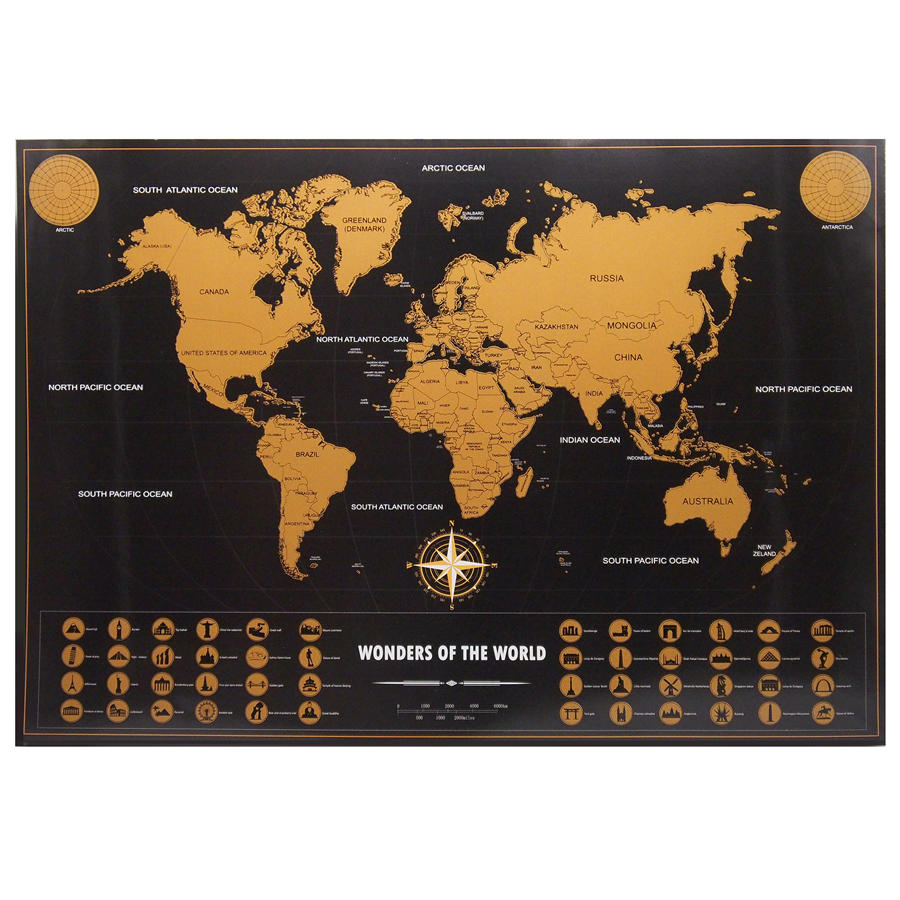 Drop shipping home travel map vintage gold black poster personalized dropshipping world map personalized vintage travel world map poster sticker vacation national geographic retro maps 82x59cm gumiabroncs Images