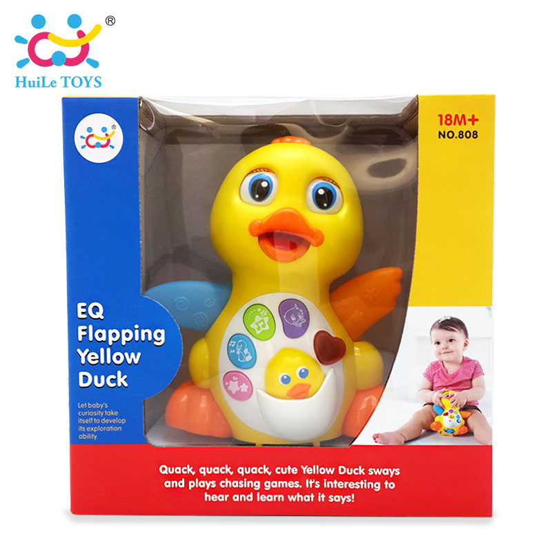 HUILE-TOYS-808-Baby-Toys-EQ-Flapping-Yellow-Duck-Infant-Brinquedos-Bebe-Electrical-Universal-Toy-for-Children-Kids-1-3-years-old-5