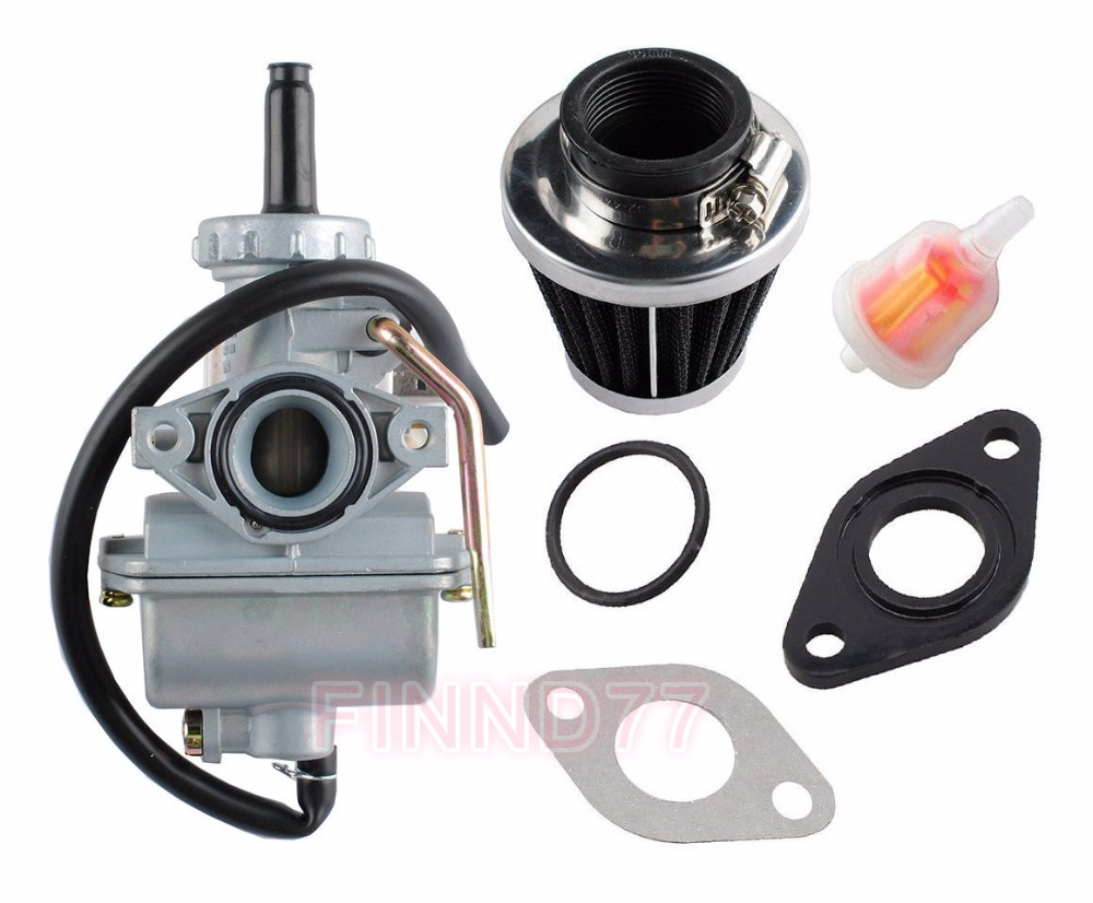 medium resolution of pz20 carburetor 35mm air filter fuel filter kits for chinese made 50cc 70cc 90cc 100cc 110cc 125cc atv go karts moped scooter in carburetor from