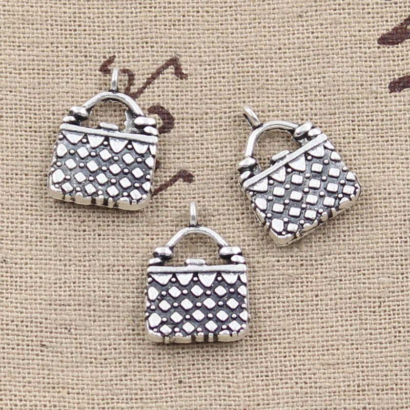 6 шт. Очаровательная сумочка 18x13 мм антикварная Подвеска для изготовления, винтажное тибетское серебро, DIY браслет ожерелье