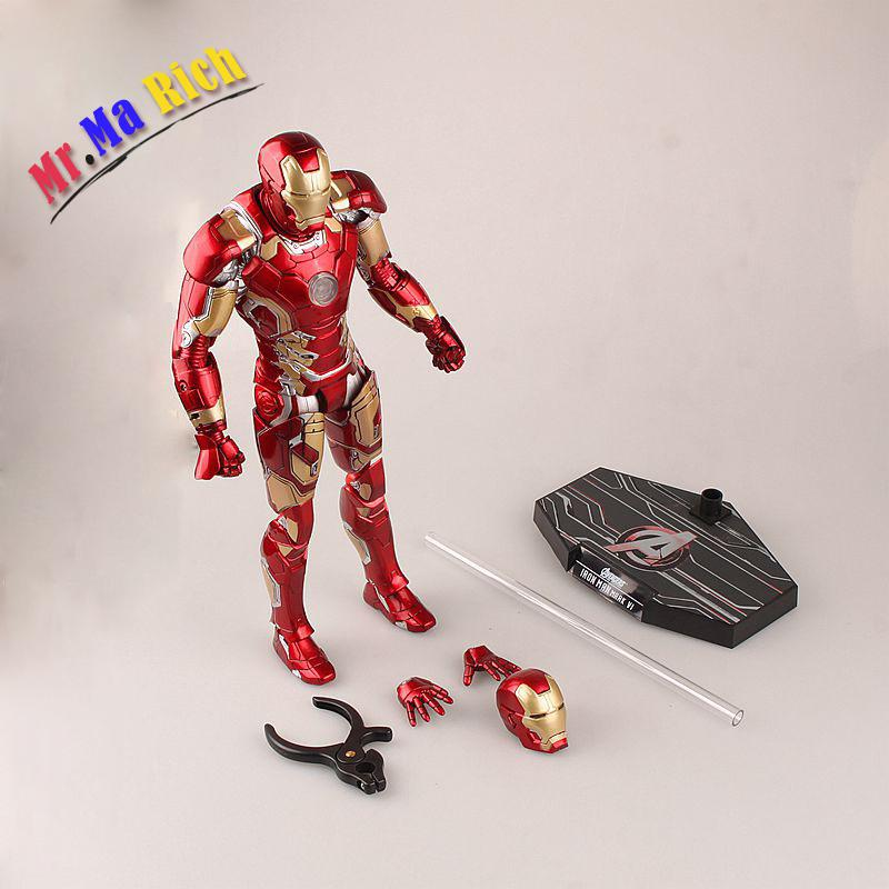 Superheros Avengers 2 Age Of Ultron Iron Man Mark Xliii 43hc Pvc Action Figure Collectible Model Kids Toys Doll 30cm crazy toys avengers age of ultron iron man mark xliii mk 43 pvc action figure collectible model toy 12 30cm