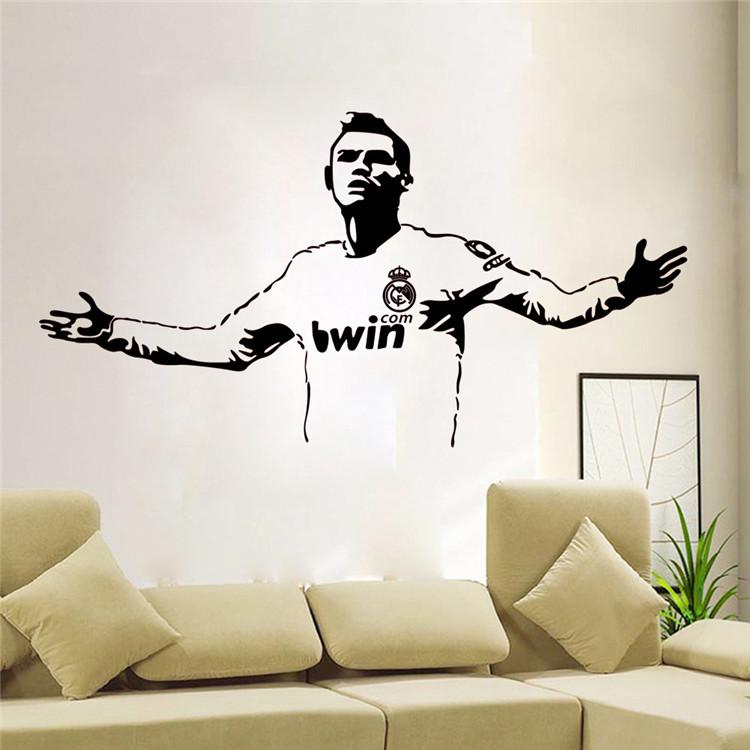 L19 Hot Wallpaper Basketball Football star Wall Stickers Living Room Sofa bedroom Waterproof Pvc Diy Mural Decal home decoration