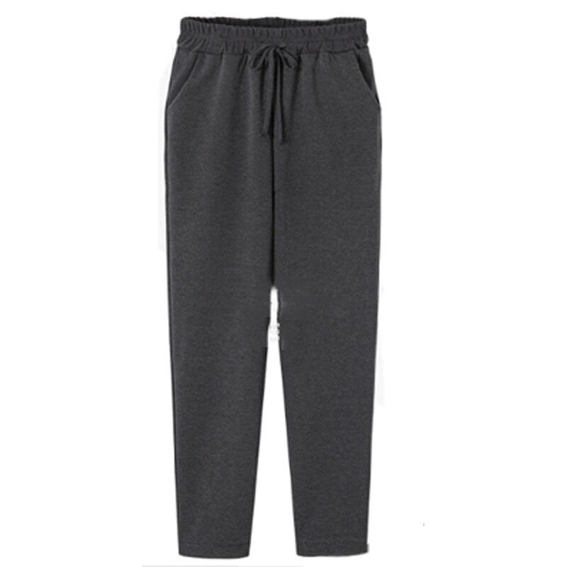 New 2019 Autumn Winter Plus Size 5XL Women Trousers Elastic Waist Cotton Sweatpants Loose Harem Pants Casual Bow Street Capris