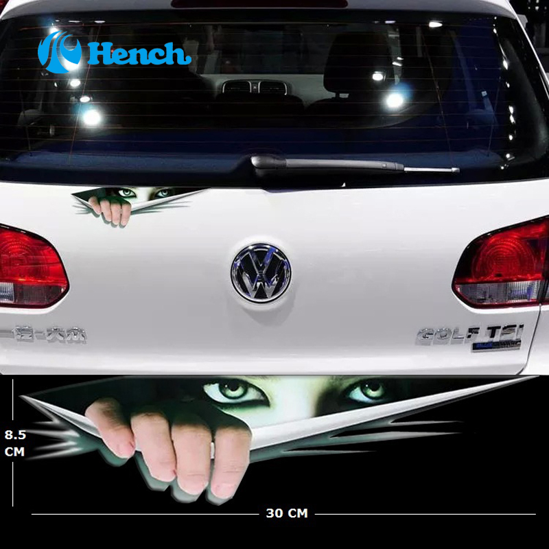 Normal Size Funny Car Sticker Waterproof Peeking Monster Voyeur Whole Body Car Styling sticker For All cars Free shipping