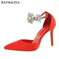 נעליים באיכות גבוהה יוקרה נשים Cyrstal פרח שושבין חתונת ריינסטון אישה נעלי משאבות סנדלי עקבים גבוהים BT-A0095