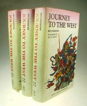 Viaje al oeste 3-Volumen inglés Tapa dura libro de papel de ficción conocimiento no tiene precio y no hay fronteras novela china tradicional -32