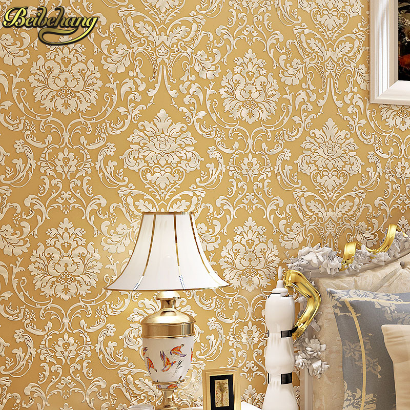 beibehang European Damask Papel De Parede Northern Damascus Epispastic Wallpaper Bedroom Living Room Tv Setting 3D wall paper beibehang fabric european style 3d pressure wall paper damascus living room bedroom tv background wallpaper papel de parede