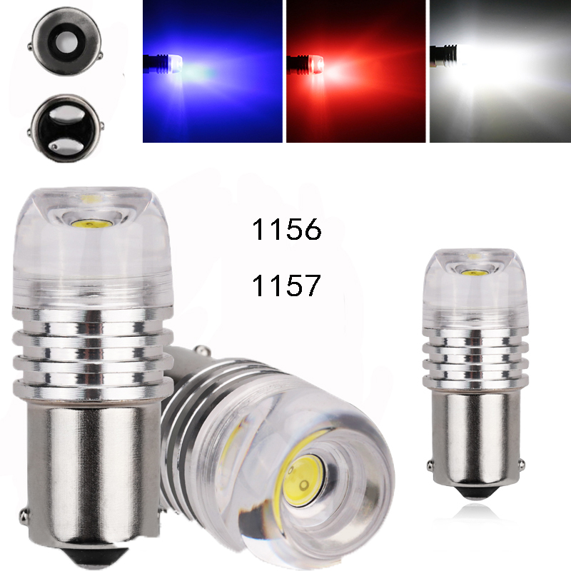 5pcs Car Bulbs High Power 6W 1156 BA15S 1157 Bay 15d COB LED Strobe Light Bulb Auto Car Turn Light Brake Reverse Lamp DC12V