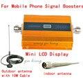 2016 NOVO LCD GSM 900 Mhz Mobile Phone Signal Booster, GSM Repetidor de Sinal/Booster, carregador de energia Com Cabo + Antena 1 CONJUNTO
