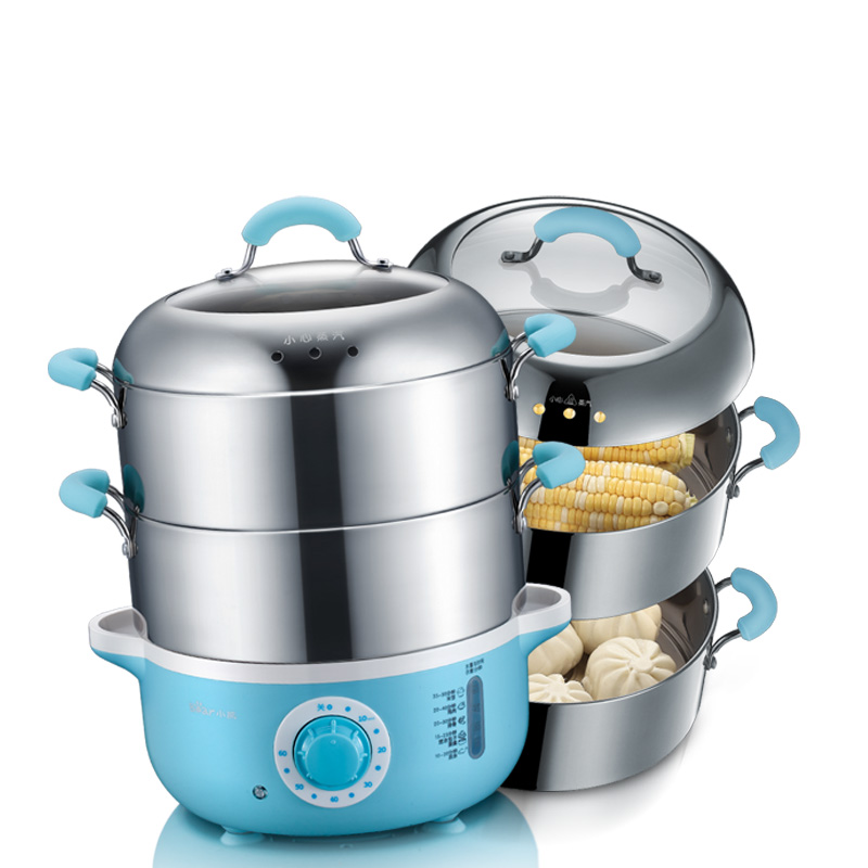Bear Multifunction Home Electric steamer 2 layer 304 stainless steel High capacity timing Mini Electric steamer Steamed dishes bear dzg 305 electric steamer multilayer electric steamer multifunction three layers microcomputer appointment timing