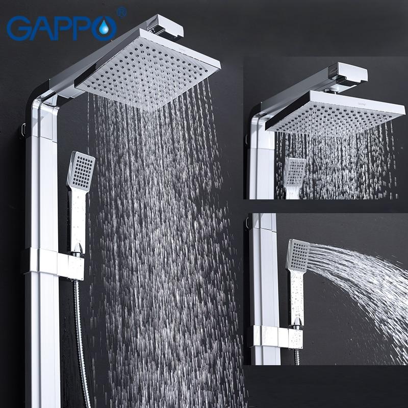 GAPPO bathroom shower faucet wall bath shower faucets set Waterfall wall shower mixer tap bathtub taps rain shower head set