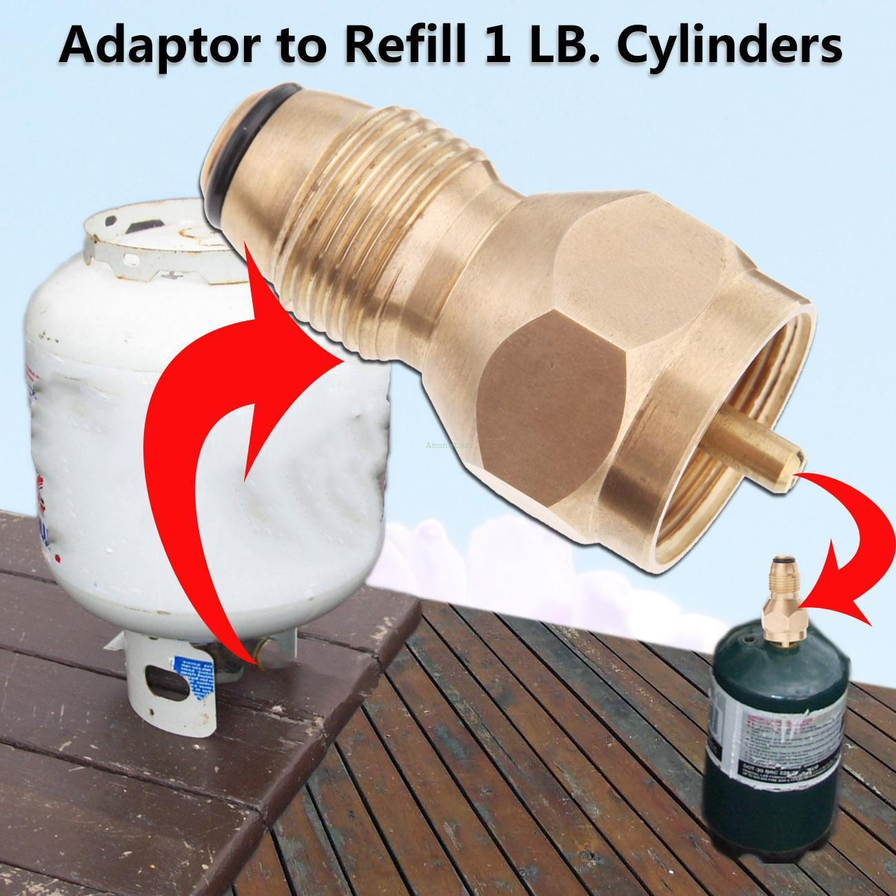 Heater Stove Small Tank Cylinder Refill 1 LB Adapter For LP Propane Gas Bottles