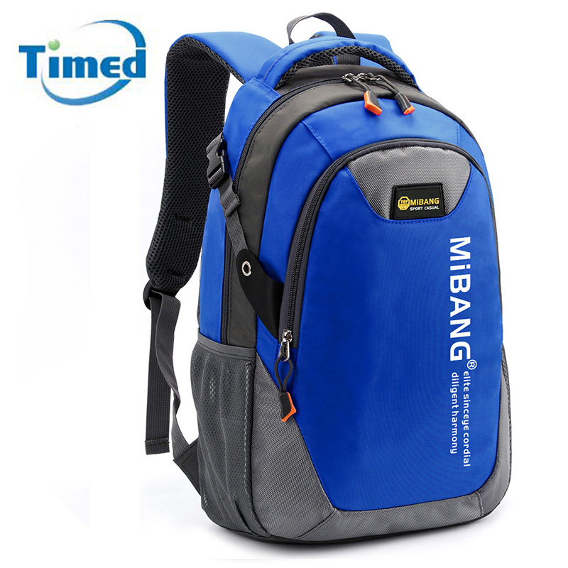 25b2f90347 Men Female New 2016 School Backpacks Fashion Boys  Casual Travel Bag Color  block Unisex Portable Outdoors Backbag For Women-in Backpacks from Luggage    Bags ...