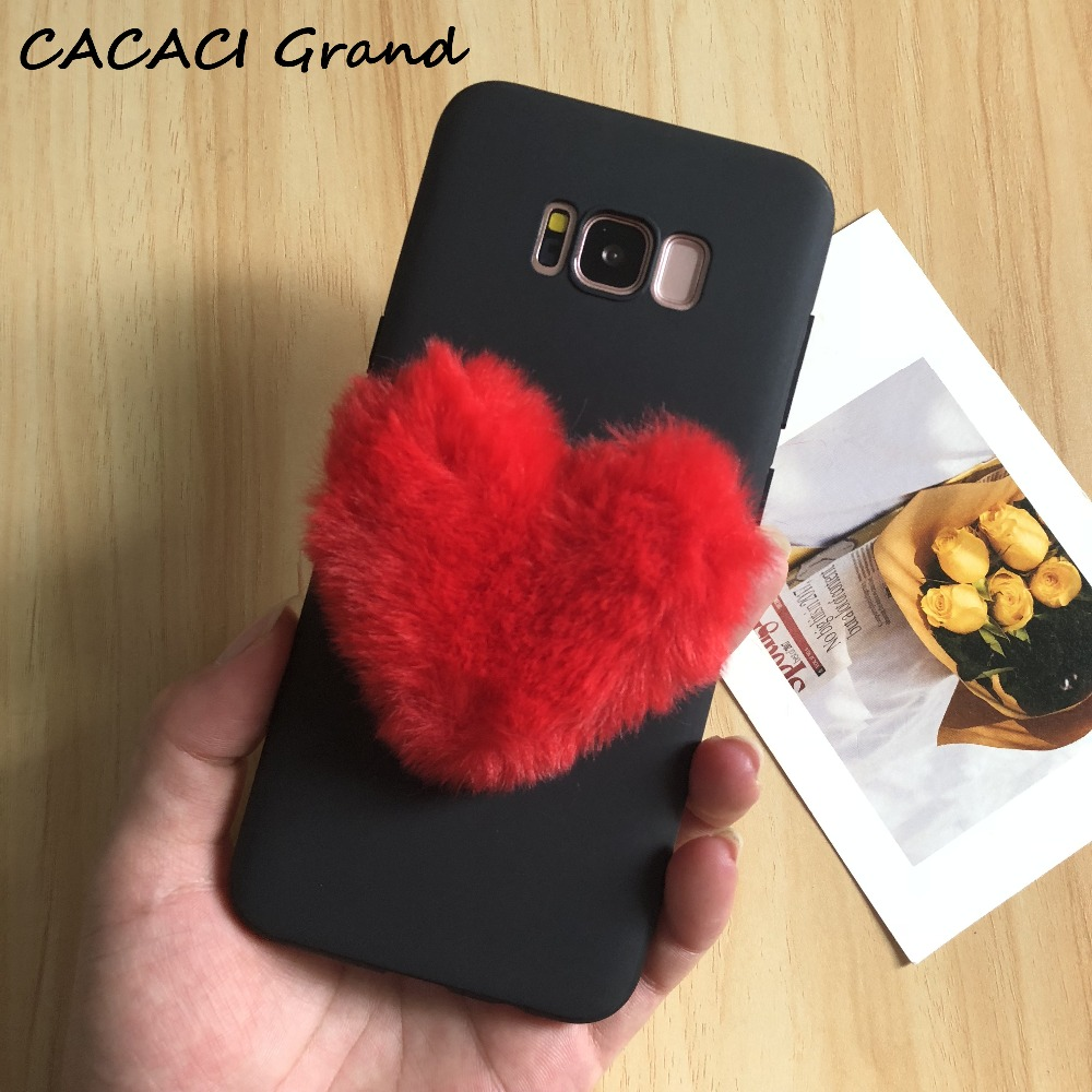 Love Fur case for samsung galaxy s9 s8 plus s7 edge A7 A5 A3 J3 J5 J7 2016 2017 J4 J6 J8 A6 A8 plus 2018 j7 prime note 9 8 case