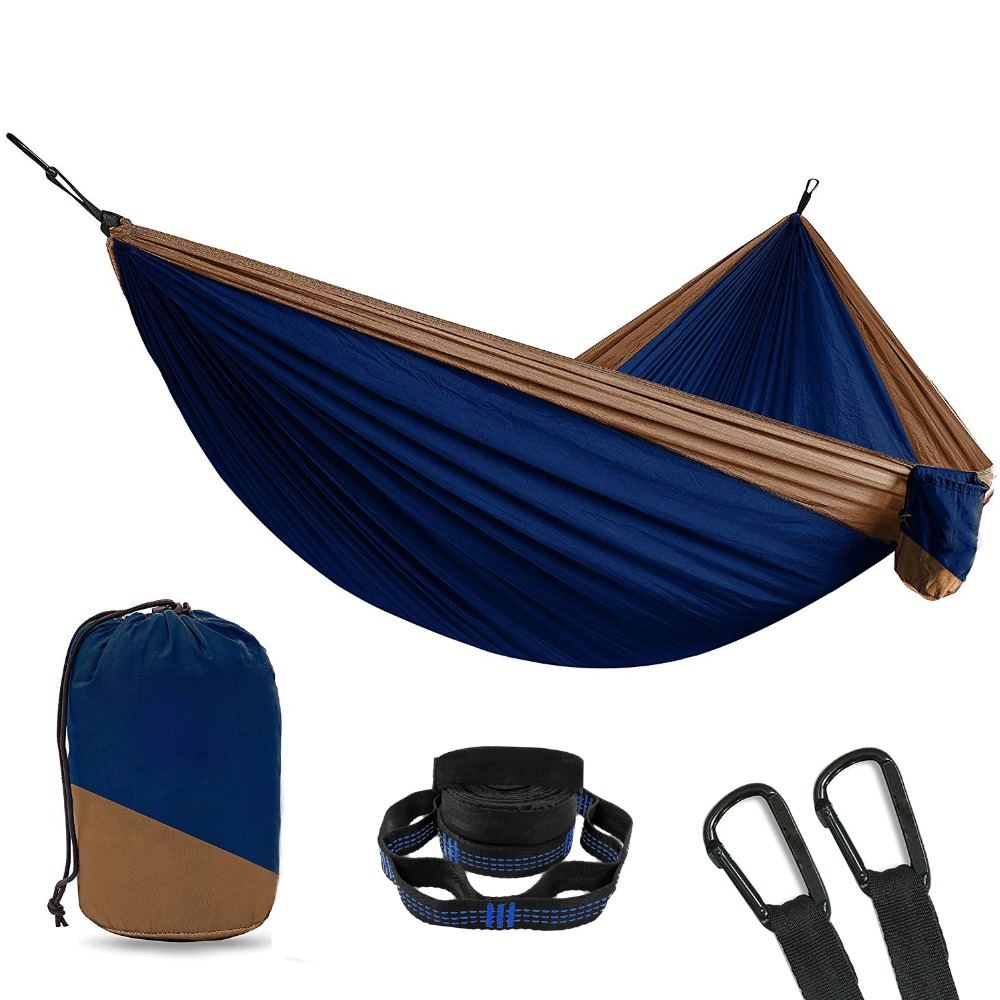2 Person Double Camping Hammock With 2pcs Tree Straps XL 10 Foot Nylon Portable Heavy Duty Holds 700lb for Sitting Hanging Sale2 Person Double Camping Hammock With 2pcs Tree Straps XL 10 Foot Nylon Portable Heavy Duty Holds 700lb for Sitting Hanging Sale