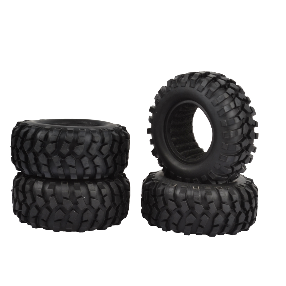 4pcs 1.9inch 96mm RC Tires Rubber Tyre for Rc Crawler RC4WD Axial SCX10 D90 1.9 Wheels 4pcs set rubber tyre tires