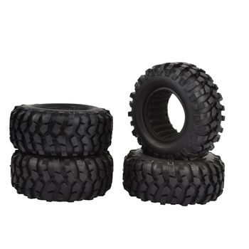 4pcs 96mm 1.9 inch Rubber Rocks Tyres / Wheel Tires for Axial SCX10 D90  Tamiya CC01 1:10 RC Rock Crawler yfan 4pcs d1rc 1 8 super grip rc crawler 3 2 inch rc thick wheel tires with sponge for 1 8 rc crawler and 1 10 axial km2 wraith