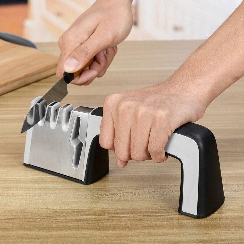 Neue Design Multifunktions 4 in 1 Messer und Scherenschleifer Messer Stein Küche Werkzeuge T0.4