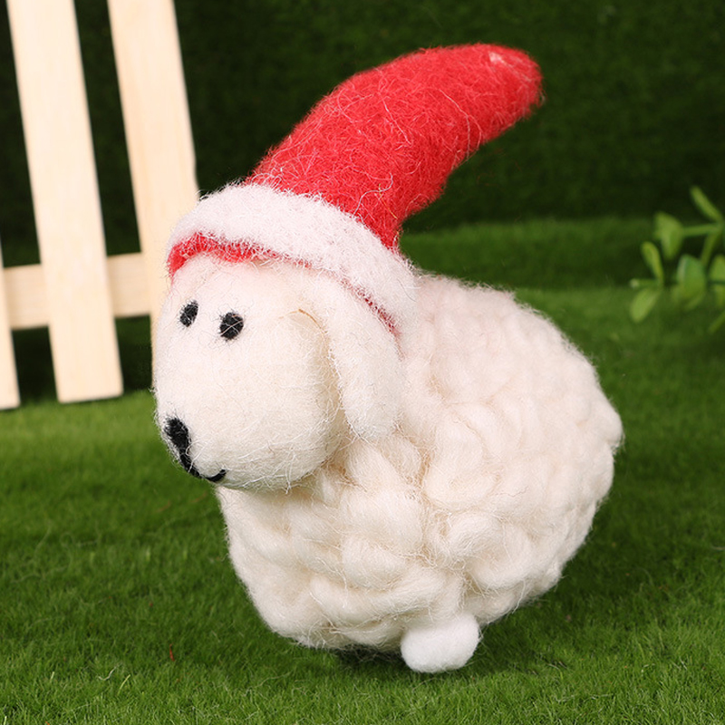 2016 New colors Sheep Toys High-Quality Merino Wool Creative Craft Ornament Finished Kawaii Hot Selling For Children Kids