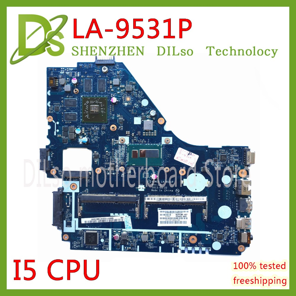 KEFU V5WE2 LA 9531P mainboard For Acer E1 572G E1 572 V5 561G Motherboard LA 9531P I5 CPU 8670M GPU Test work 100% original