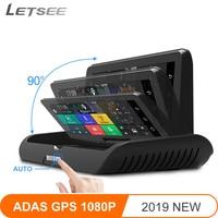 Letsee Z10 HD 7,84 ips автомобильный gps навигация 4 г ADAS Full HD 1080 P камера видео рекордер Автомобильный Sat nav грузовик gps навигаторы
