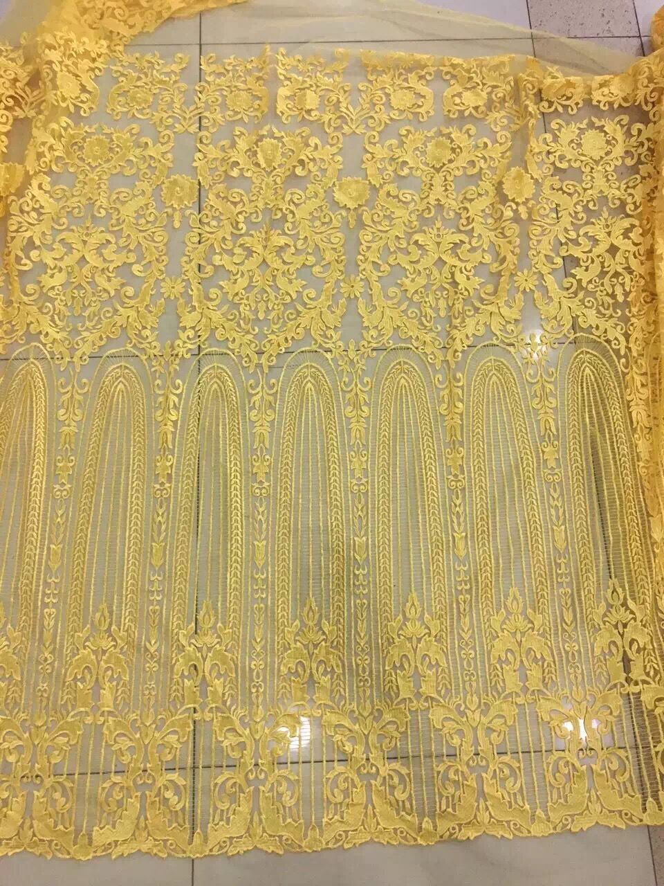 high quality LJY 71951 French net lace fabric tulle mesh lace fabric for party dress