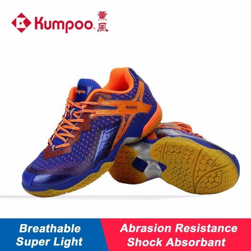 High end Kumpoo Professional Badminton Shoes Super Light Soft Abrasion Resistance Balance Sneakers Men and Women