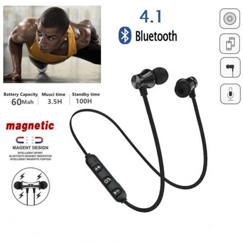 Bluetooth Headset Neckband Magnetic Bluetooth 4.1 Wireless Earphones Running Gym Sports Headphones Sweatproof 3D25 image