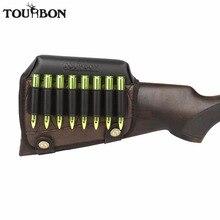 Tourbon Hunting Gun Buttstock 뺨 레스트 라이저 패드 라이플 카트리지. 308win .30 06 .30 30 탄약 홀더 슈팅 건 액세서리