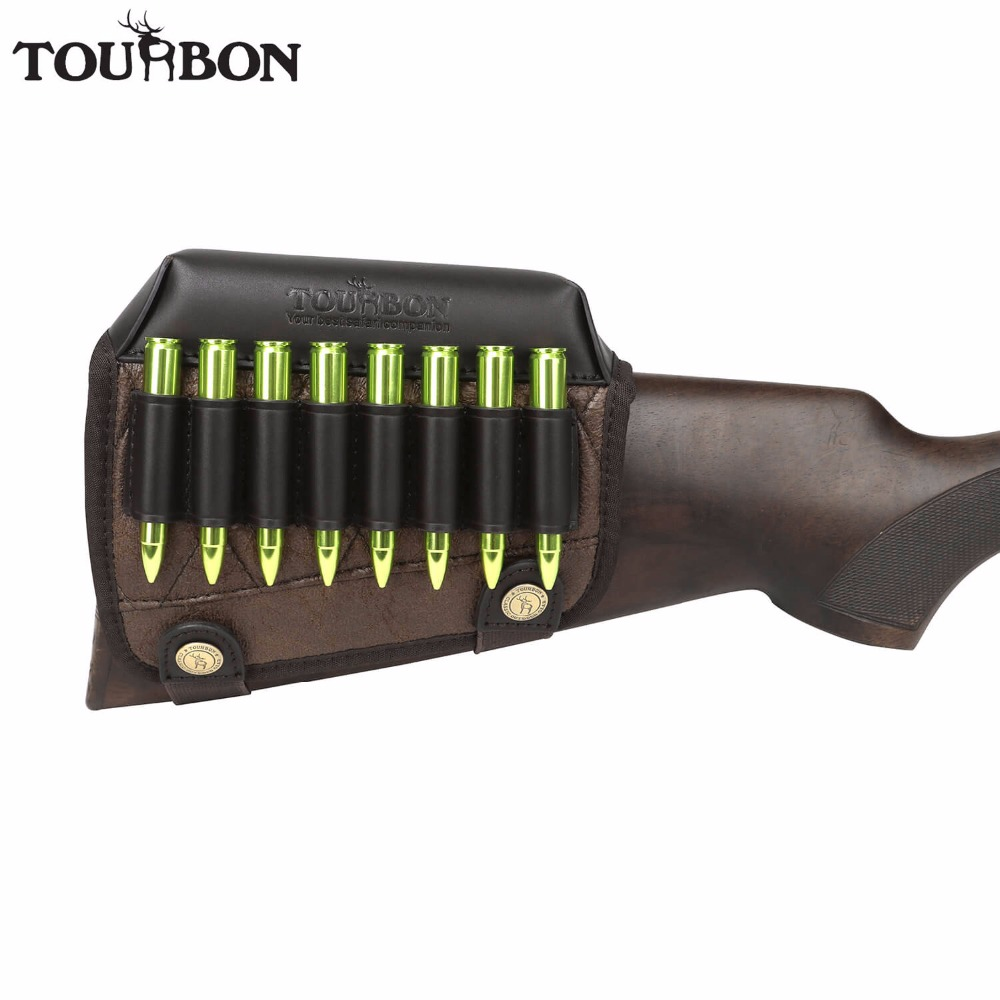 Tourbon Hunting Gun Buttstock Cheek Rest Riser Pad Rifle Cartridges Ammo Holder For Right Hand Shooting Gun Accessorries