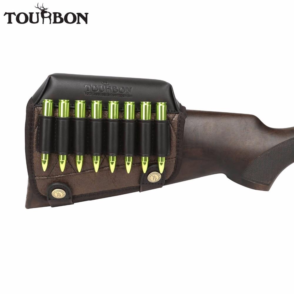 Tourbon Hunting Gun Buttstock Cheek Rest Riser Pad Rifle Cartridges Ammo Holder For Right Hand Shooting Gun Accessorries