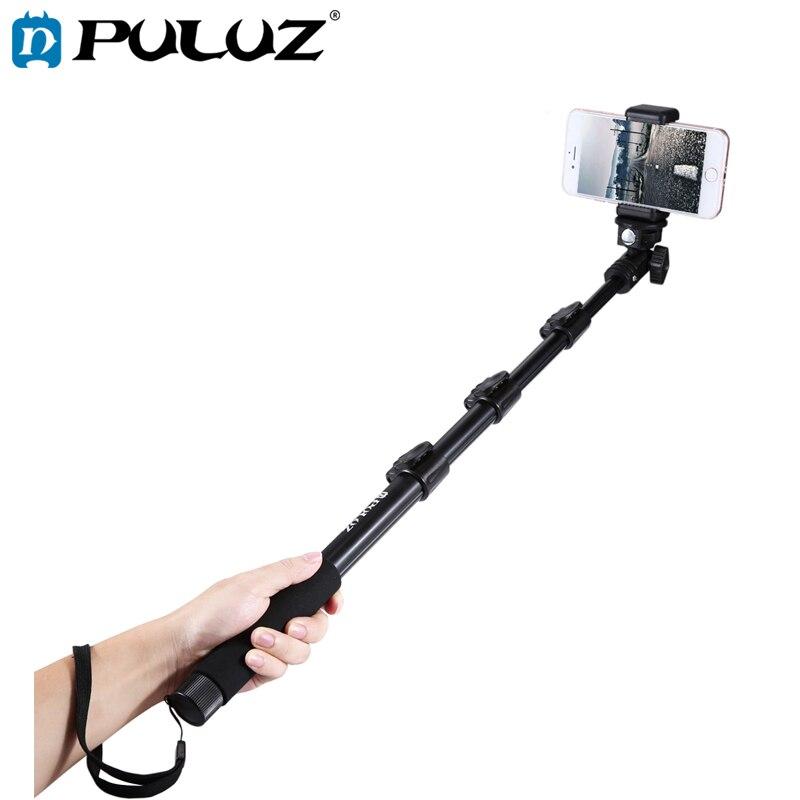 PULUZ Selfie Stick For GoPro Hero6 Extendable Adjustable Handheld Monopod Smartphone Length 40-120cm
