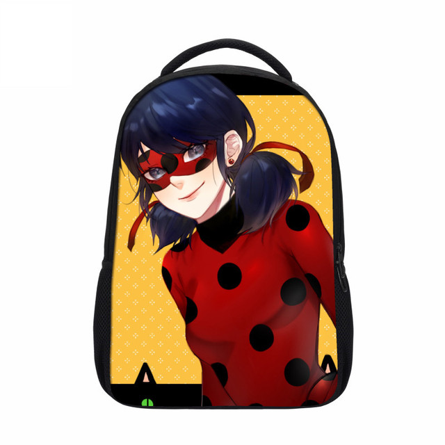 2018 Veevanv New Cartoon Children Bookbag Anime Miraculous Ladybug