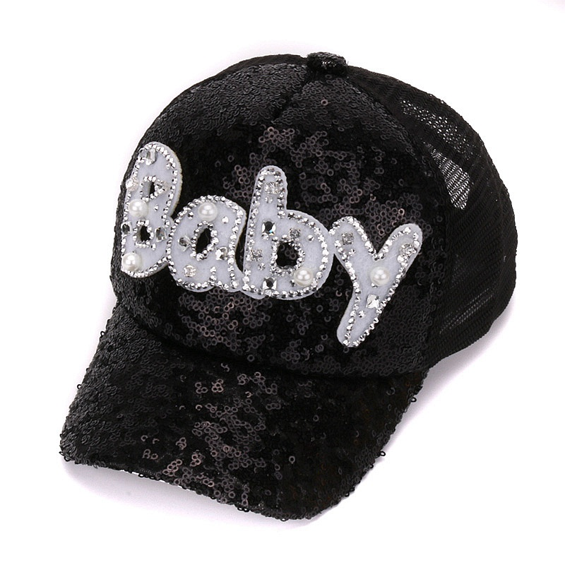 7ef31960521 New Real Mesh Cap For Children Gift Baseball Caps Baby Diamond Sequin Sun  Hats