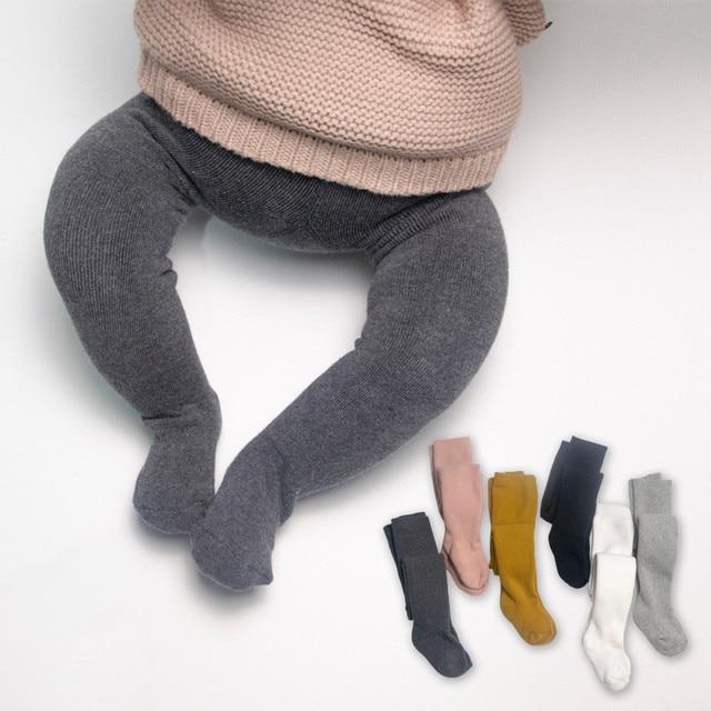 Retail Winter Girls Tights Thicken Baby Girl Pantyhose Fashion Cotton Cute kids Stocking Fur Elastic Waist Warm Girl Pantyhose