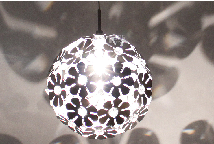 8 Modern Aluminum Flower Crystal Porch Pendant Lamp Porch Dining Room Bar Counter Night Club Hollway Balcony Pendant Lamp