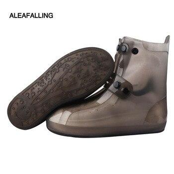Aleafalling Unisex PCV Integralną Formy Wodoodporna Wielokrotnego Użytku Deszcz Buty Pokrowce Deszczu Boot Anti-skid Wear Outdoor Buty Obejmuje SC33