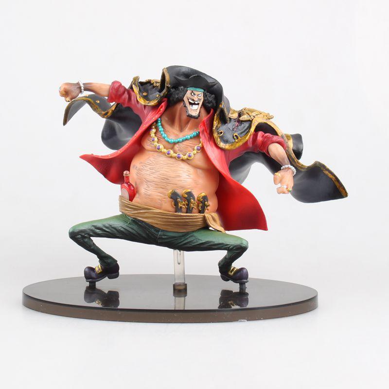 14cm Anime One Piece Marshall D. Teach Black Beard PVC Action Figure Resin Collection Model Toy Doll Gift