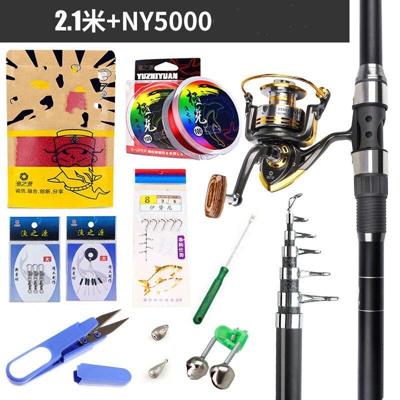 Battlesea Spinning Fishing Rod Combo 1.8-3.6m Telescopic Fishing Rod + DK11BB Fishing Reel Wheel Portable Travel Fishing Rod