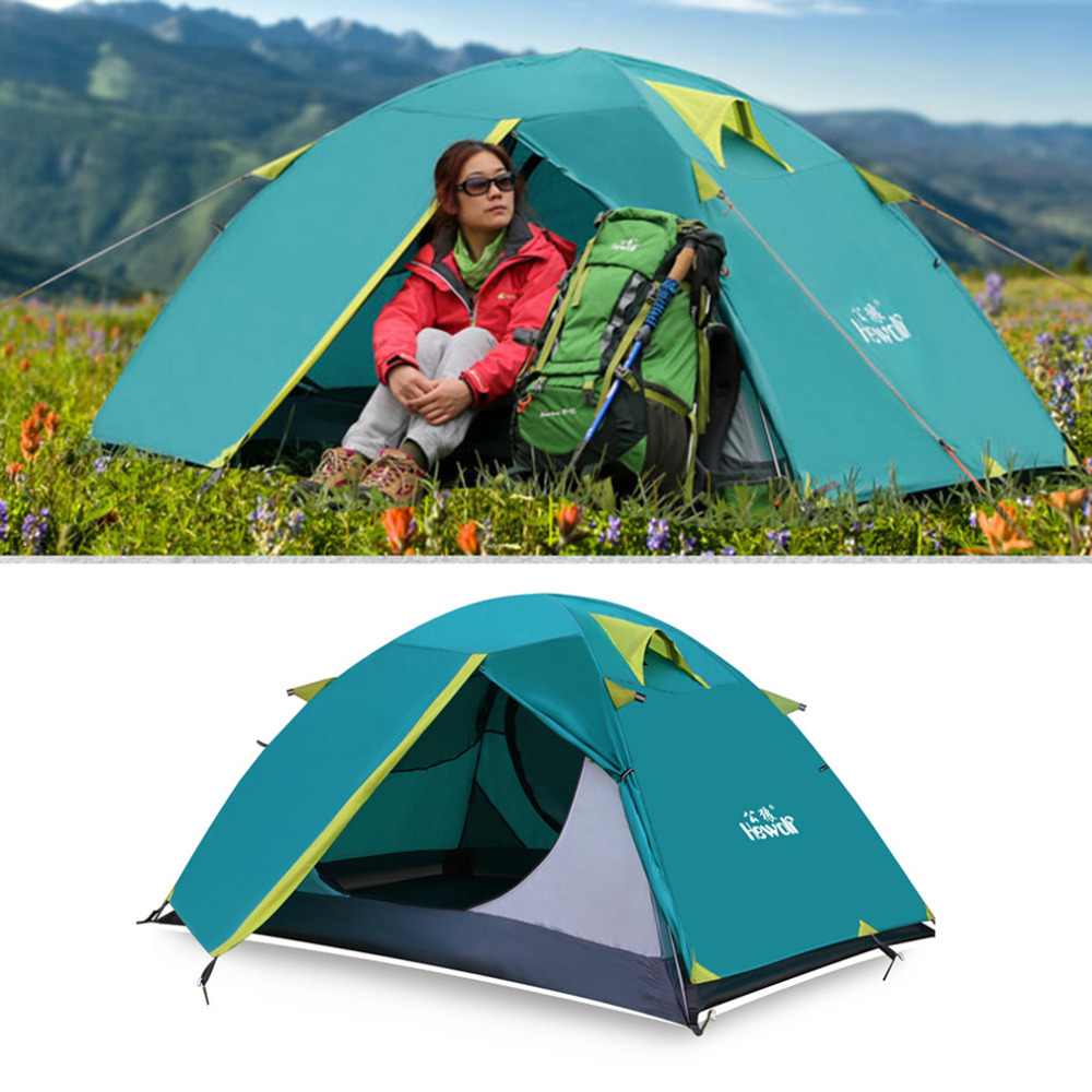 Ship from Russian Camping Tents Double Layer Waterproof Windproof Outdoor Tent For Hiking Fishing Hunting Beach Picnic Hot mobi outdoor camping equipment hiking waterproof tents high quality wigwam double layer big camping tent