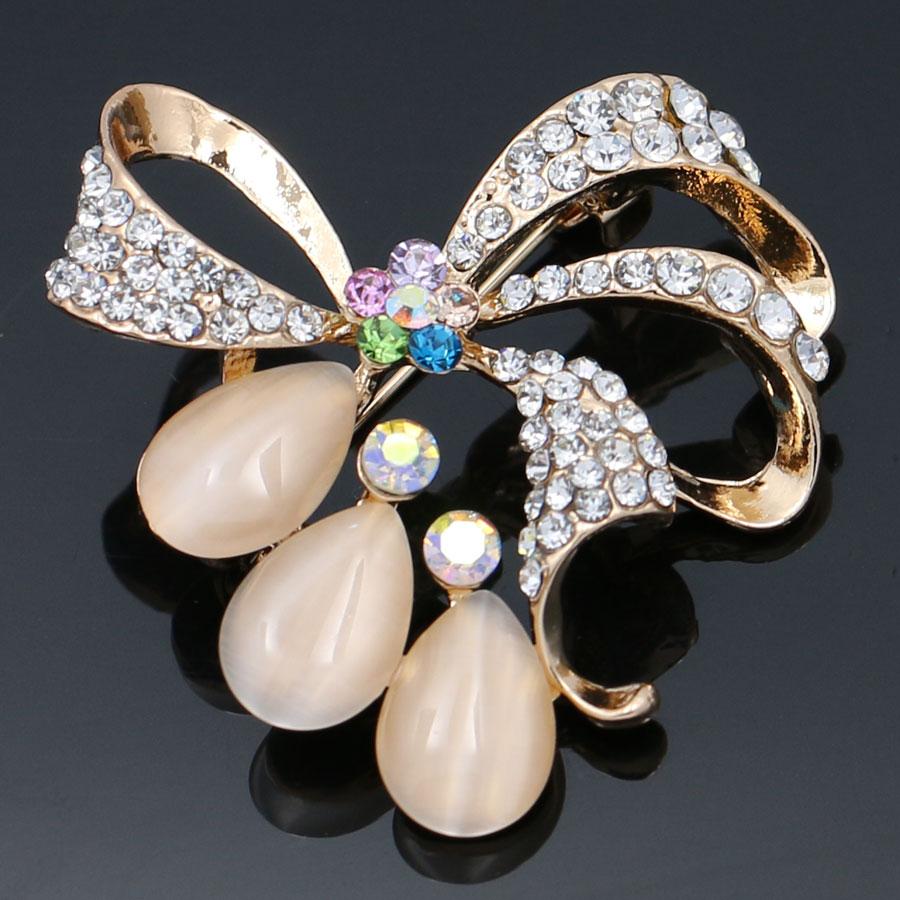 Cute Butterfly Bowknot Crystal Rhinestone