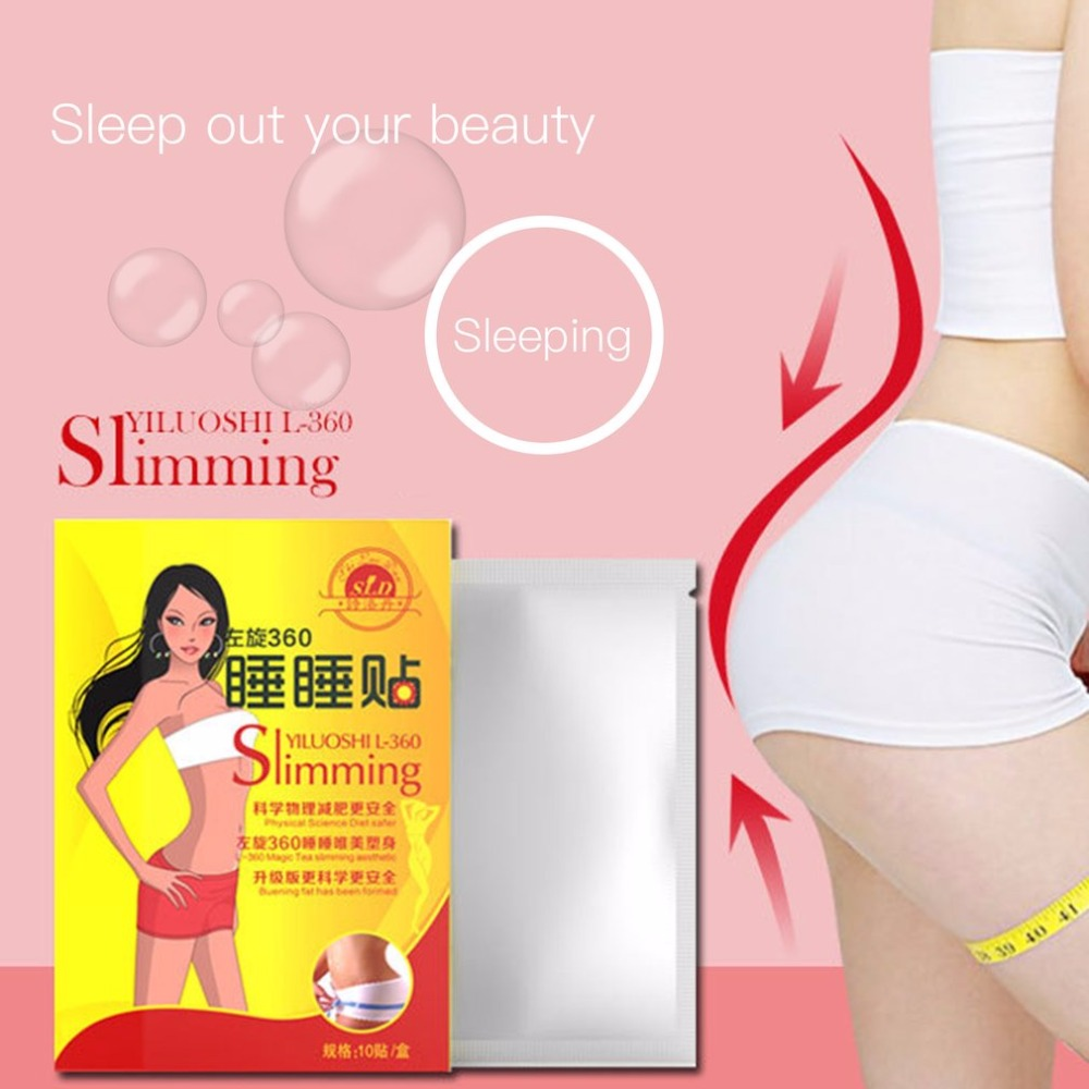 10pcs Slimming Patch Loss Weight Products Slim Patch Sleeping Navel Stick