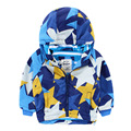 Boys Coats Winter Star Pattern Hooded Long Sleeve Outerwear & Coats Children Winter Coat for 2-7T Outerwear Fashion Jacket